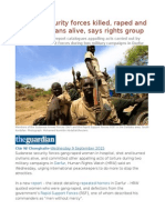 Sudan's Security Forces Killed, Raped and Burned Civilians Alive, Says Rights Group