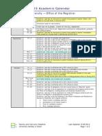 Fall 2015 Academic Calendar PDF