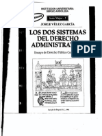 Los dos sistemas del Derecho Administrativo