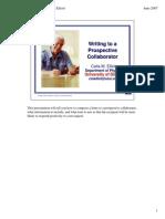 Writing to Collaborators