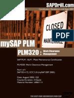 PLM320 WCM Work Clearance Management