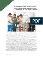 09.10.2013 Comunicado Inicia Esteban Entrega de 5 Mil Becas Promeeb