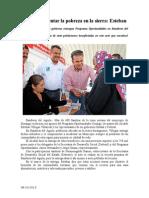 08.10.2013 Comunicado Todos a Enfrentar La Pobreza en La Sierra Esteban