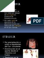 HIPOCALCEMIA en pacientes nefropatas