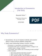 Introductin to Econometrics