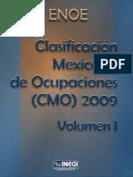 Clasificación Mexicana de Ocupaciones - Vol 1 - 2009