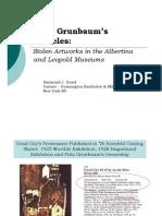 Stolen Grunbaum Schieles at Albertina and Leopold Museums