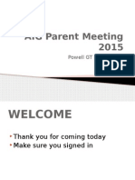 aig parent night 2015