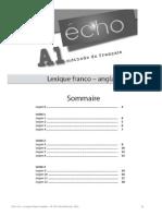 Echo A1 Lexique