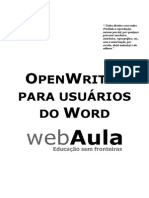 Apostila - OpenOffice Writer Para Usuarios Do Word