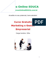 Curso Marketing e Gest o Empresarial