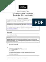 P1 Sept2014 Answers