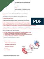 Sist. Cardiovascular - Questões Atividades Para Estudo - COM GABARITO