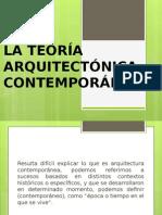 La Teoría Arquitectónica Contemporánea Exposicion