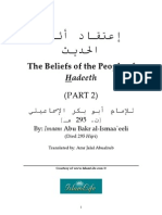The Beliefs of the People of Hadeeth   [p/2]