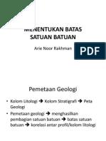 Menentukan Batas Satuan Stratigrafi