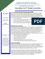 humanitiessyllabus 2014