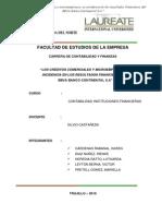 Los Crc3a9ditos Comerciales y Microempresa y Su Incidencia en Los Resultados Financieros Del Bbva (1)