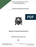 Informe de la Jornada Curricular 2014 Facultad de Ciencias Economicas UNMSM