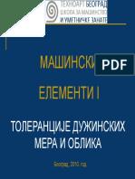 003 - Толеранције дужинских мера и облика