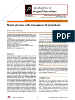 Hemmoroid Management
