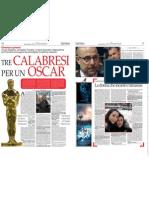 3 Calabresi x Un Oscar - Il Quotidiano della Calabria del 07-03-2010