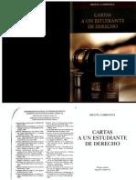 Cartas a Un Estudiante de Derecho. Miguel Carbonel
