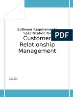 SRS on Customer Relationship Management