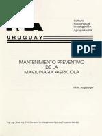 Mantenimiento Preventivo de La Maquinaria Agricola