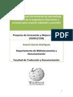 Wikipedia como herramienta de aprendizaje en el EEES de la asignatura Colecciones y servicios para usuarios infantiles y juveniles