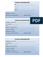Ficha de Inscripcion a Cursos en General