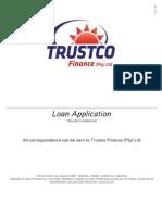 Trustco Finance Loan Application Feb 2011