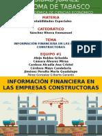 Información Financiera en Las Empresas Constructoras