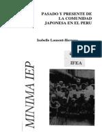 Pasado y Presente de La Comunidad Japonesa en El Perú