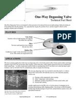Degassing ValvesTechSheet