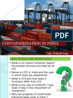 Containerisation in India 23.10.2014