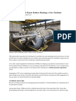 What You Should Know Before Buying a Gas Turbine
