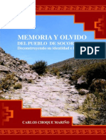 Memoria y Olvido Socoroma