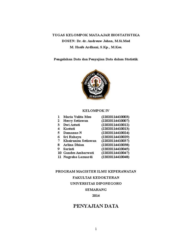Cover makalah penyajian data statistik ccuart Image collections