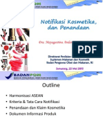 BPOM-Notifikasi Kosmetik Dan Penandaan Kosmetik-Seamarang 25 Mei 2015