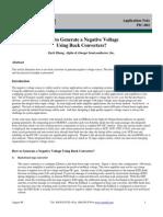 Negative Voltage Buck Converter