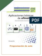 Aplicaciones Básicas Ofimática - Programación Servicios Administrativos - PARANINFO