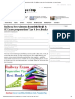 Railway Recruitment Board (RRB) JE & SE Exam Preparation-Tips & Best Books - All India Roundup