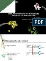 Modeling Intrinsic Kinetics in Immobilized Photocatalytic Microreactors