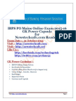 GK Power Capsule for IBPS PO 2015-16 Download | Current Affairs Pdf | General Awareness