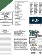 Calvary Bowling Green 3-7-2010 Bulletin