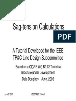 IEEE TPC Tutorial Sag Tension Calculation   Creep