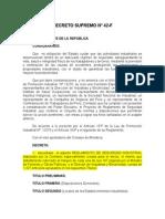 1964 D.S. Nº 42-F Reglamento de Seguridad Industrial