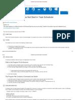 Scheduled Program Does Not Start in Task Scheduler