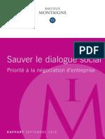 Montaigne - Rapport Negociations Sociales 2015